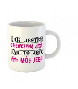 Różowy jeep